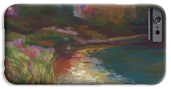 Autumn Landscape Pastels iPhone Cases - Autumn Magic iPhone Case by Mary C Haneline