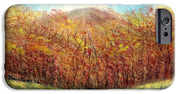Fall Scenes Drawings iPhone Cases - Autumn Meadow iPhone Case by Shana Rowe