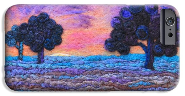 Sunset Tapestries - Textiles iPhone Cases - Autumn Meadow Sunset iPhone Case by Michelle Bowers