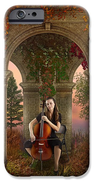 Contemplative Mixed Media iPhone Cases - Autumn Melody iPhone Case by Bedros Awak