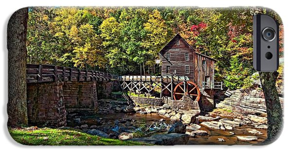 Grist Mill iPhone Cases - Autumn Mill iPhone Case by Steve Harrington