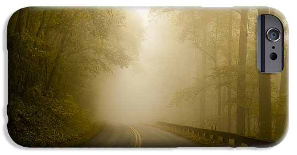 Recently Sold -  - Mist iPhone Cases - Autumn Mist Blue Ridge Parkway iPhone Case by Terry DeLuco