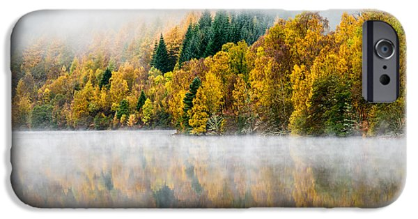 Autumn Woods iPhone Cases - Autumn Mist iPhone Case by Dave Bowman