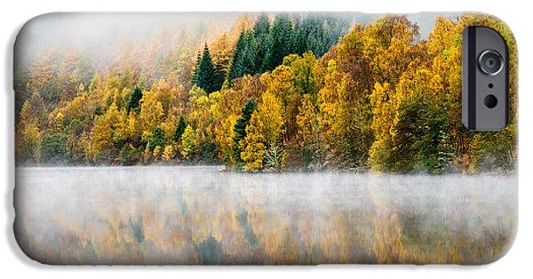 Autumn Landscape Photographs iPhone Cases - Autumn Mist iPhone Case by Dave Bowman