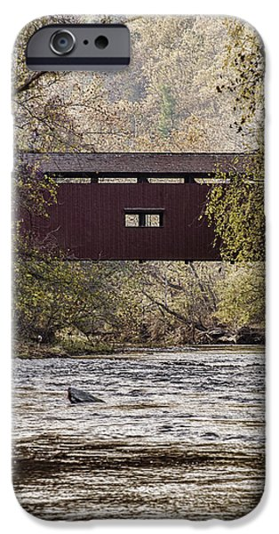 Creek iPhone Cases - Autumn Mist iPhone Case by Elaine Schwetz