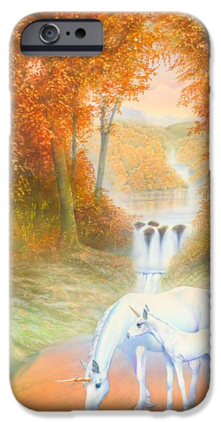 Extinct And Mythical Photographs iPhone Cases - Autumn Morning iPhone Case by Andrew Farley