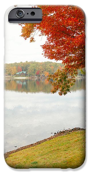 Lake House iPhone Cases - Autumn Morning at the Lake - Pocono Mountains - Pennsylvania iPhone Case by Vivienne Gucwa