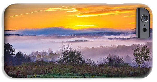 Recently Sold -  - Fog Mist iPhone Cases - Autumn Morning in the Hills iPhone Case by Benjamin Williamson