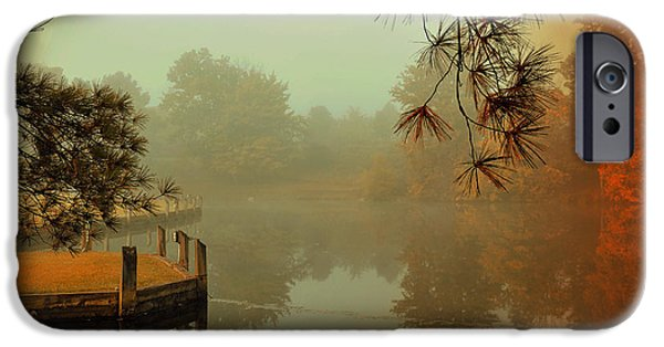 Fall iPhone Cases - Autumn Morning iPhone Case by Reese Lewis