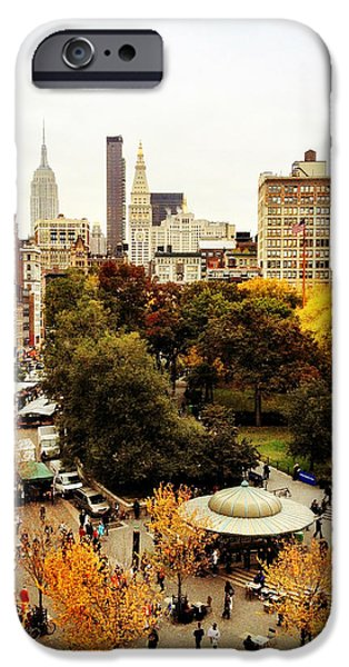 Empire State iPhone Cases - Autumn - New York iPhone Case by Vivienne Gucwa