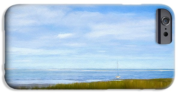 Cape Cod Mixed Media iPhone Cases - Autumn On Cape Cod Bay iPhone Case by Michael Petrizzo