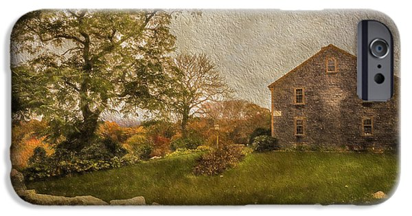 Cape Cod Mixed Media iPhone Cases - Autumn On Cape Cod  iPhone Case by Michael Petrizzo