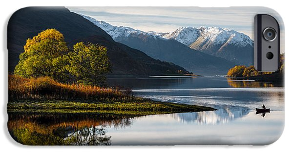 Beautiful Scenery iPhone Cases - Autumn on Loch Leven iPhone Case by Dave Bowman