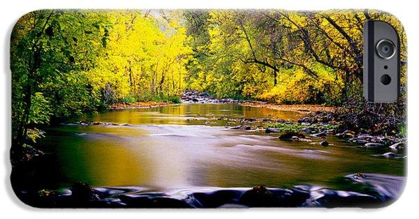 Oak Creek iPhone Cases - Autumn on Oak Creek iPhone Case by Frank Houck