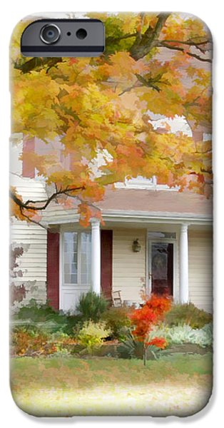 Autumn on the Farm iPhone Case by Bill Losey