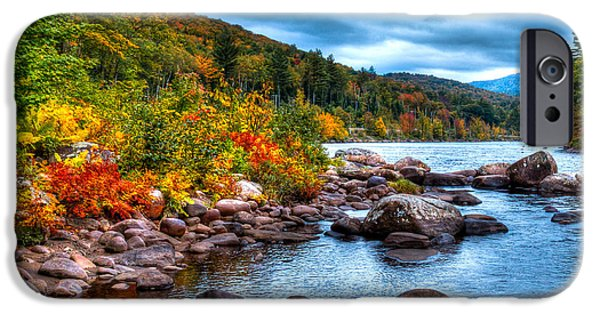 Hudson River iPhone Cases - Autumn on the Hudson iPhone Case by David Patterson