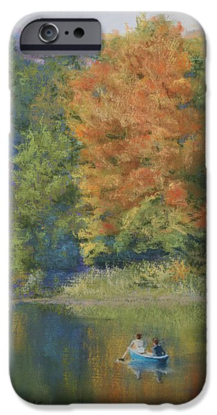 Autumn on the Lake iPhone Case by Marna Edwards Flavell