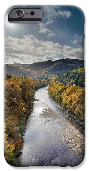 Autumn iPhone Cases - Autumn on the River Garry iPhone Case by Dave Bowman