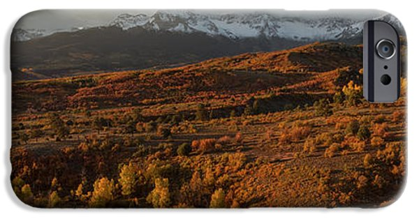 Winter Storm iPhone Cases - Autumn Panorama iPhone Case by Jennifer Grover