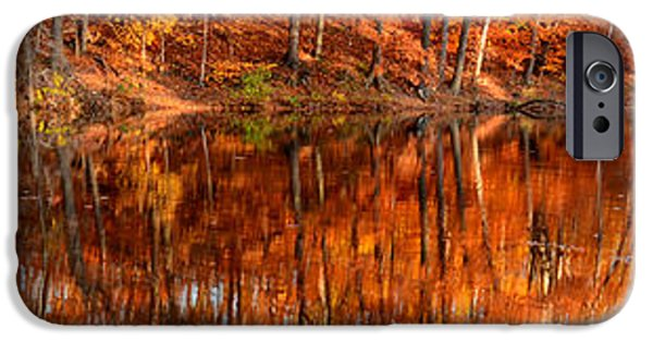 Autumn In New England iPhone Cases - Autumn Paradise iPhone Case by Lourry Legarde