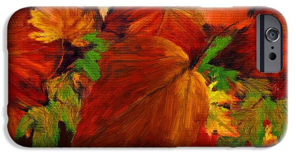 Contemporary Home iPhone Cases - Autumn Passion iPhone Case by Lourry Legarde