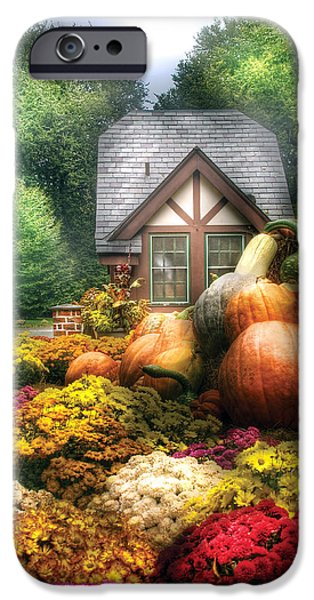 Storybook iPhone Cases - Autumn - Pumpkin - This years harvest was Awesome  iPhone Case by Mike Savad