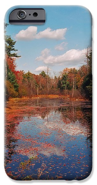 New Hampshire Fall Scenes iPhone Cases - Autumn Reflections iPhone Case by Joann Vitali