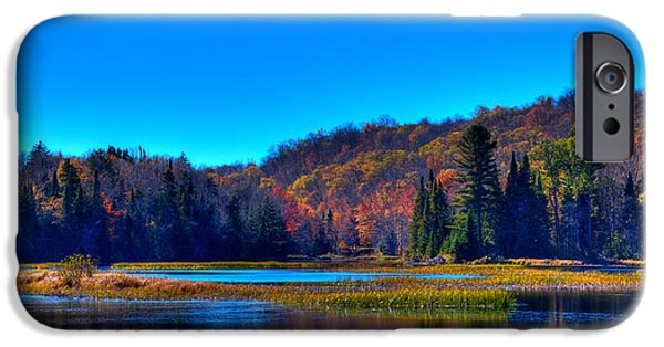 David iPhone Cases - Autumn Reflections on the Moose River iPhone Case by David Patterson