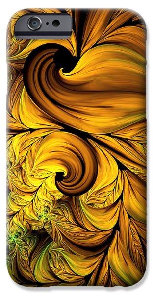 Asymmetrical iPhone Cases - Autumn Returns Abstract iPhone Case by Georgiana Romanovna