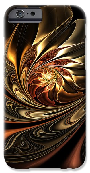 Asymmetrical iPhone Cases - Autumn Reverie Abstract iPhone Case by Georgiana Romanovna