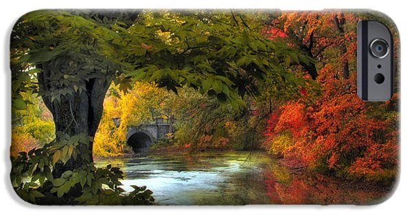 Autumn Digital iPhone Cases - Autumn Reverie iPhone Case by Jessica Jenney