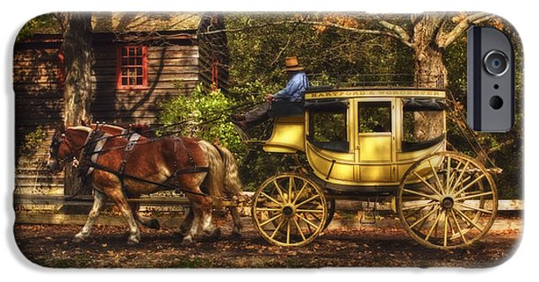 Autumn Scenes iPhone Cases - Autumn Ride iPhone Case by Joann Vitali