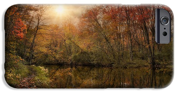 Blackstone River iPhone Cases - Autumn River iPhone Case by Robin-lee Vieira