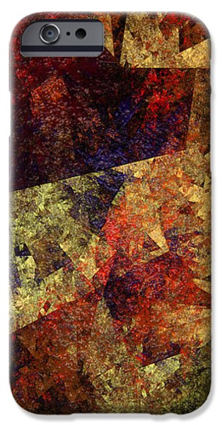 Autumn Road Fractal iPhone Cases - Autumn Road iPhone Case by Andee Design