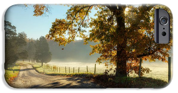 Southern New England iPhone Cases - Autumn Road iPhone Case by Bill  Wakeley