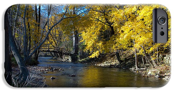 Autumn Scenes iPhone Cases - Autumn Scene at Valley Forge iPhone Case by Bill Cannon