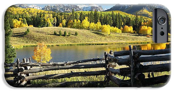 Beaver Lake iPhone Cases - Autumn Serenade iPhone Case by Eric Glaser