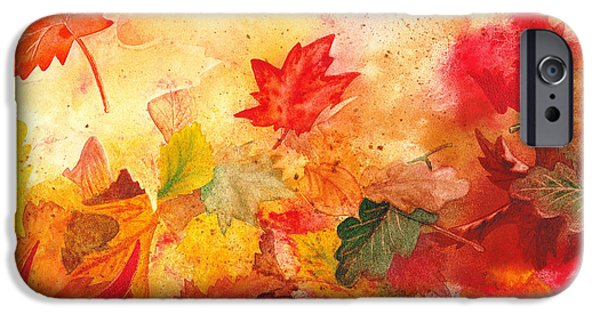 Fall Scenes iPhone Cases - Autumn Serenade  iPhone Case by Irina Sztukowski