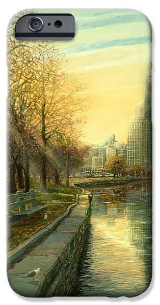 Chicago iPhone Cases - Autumn Serenity II iPhone Case by Doug Kreuger