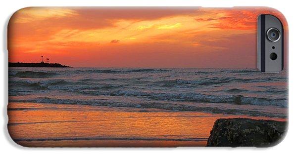 Harbor Sesuit Harbor iPhone Cases - Autumn Sesuit Sunset iPhone Case by Dianne Cowen