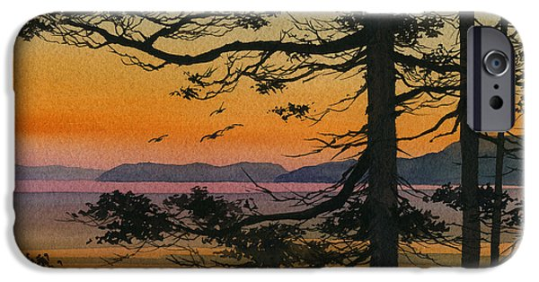 Landscape Greeting Cards iPhone Cases - Autumn Shore iPhone Case by James Williamson