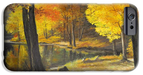 River iPhone Cases - Autumn Silence  iPhone Case by Sorin Apostolescu