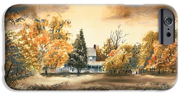 Buildings Mixed Media iPhone Cases - Autumn Sky No W103 iPhone Case by Kip DeVore