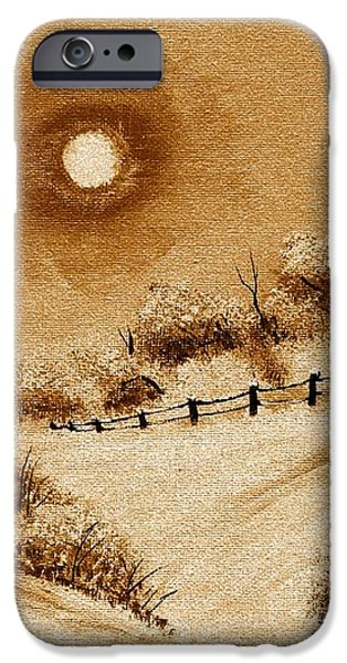 Autumn Snow iPhone Case by Barbara Griffin