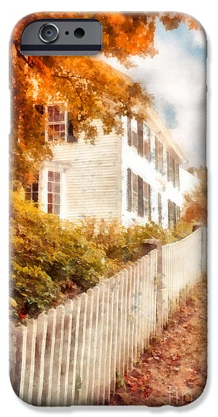 Massachusetts Autumn Scenes iPhone Cases - Autumn Splendor iPhone Case by Edward Fielding