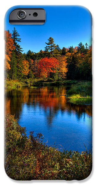 Reflections In River iPhone Cases - Autumn Splendor on the Moose River iPhone Case by David Patterson