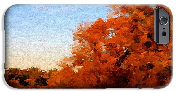 Autumn Landscape Mixed Media iPhone Cases - Autumn  iPhone Case by Stefan Kuhn