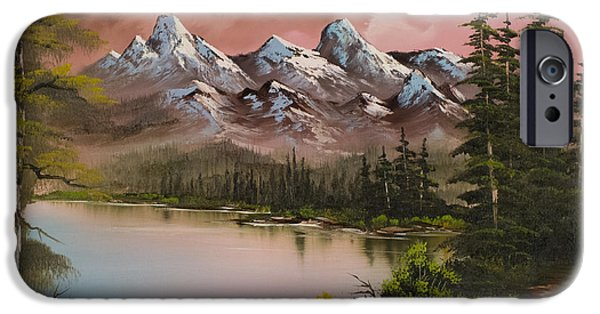 Bob Ross Paintings iPhone Cases - Autumn Storm iPhone Case by C Steele