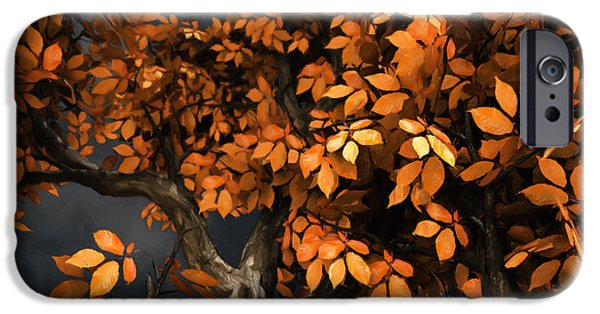 Autumn Trees iPhone Cases - Autumn Storm iPhone Case by Cynthia Decker