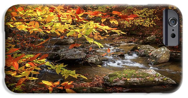 Kent Connecticut iPhone Cases - Autumn Stream iPhone Case by Bill  Wakeley